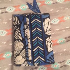 Blue and white flower wallet